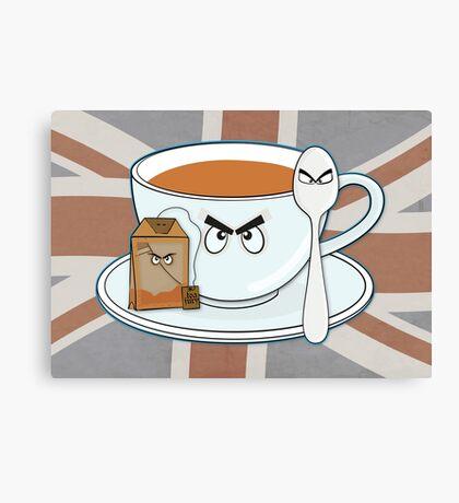 Tea fury Canvas Print