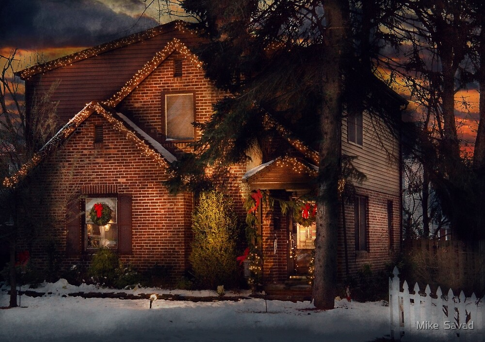Christmas - Gingerbread House by Michael Savad
