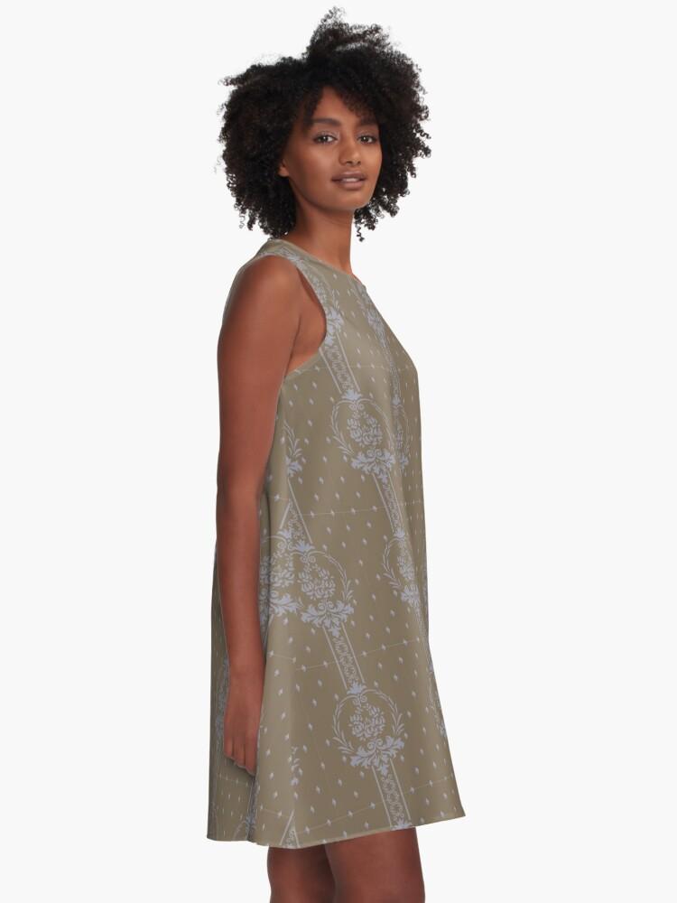 Alternative Ansicht von Rosenbouquet... A-Linien Kleid