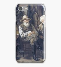 John George Brown - To Decide The Question iPhone Case/Skin