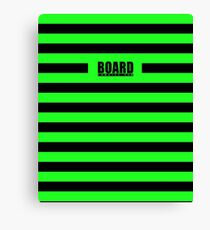 Zombie Punky Green Loud Stripe Logo By BoardZombies Canvas Print