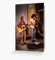 Street buskers in Malaga Greeting Card