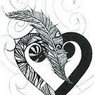 KELKIRK ST. B&W feather by Lesley A Marsh