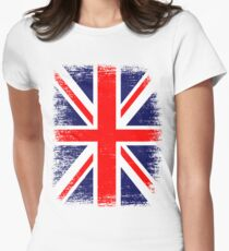 UK Union Jack Vintage Flag  Womens Fitted T-Shirt