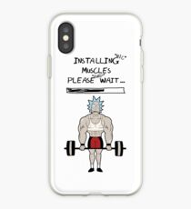 Rick and Morty. Installing muscles. iPhone Case
