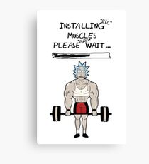 Rick and Morty. Installing muscles. Canvas Print