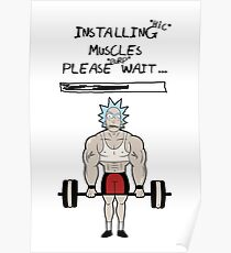 Rick and Morty. Installing muscles. Poster