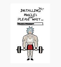 Rick und Morty. Muskeln aufbauen. Fotodruck