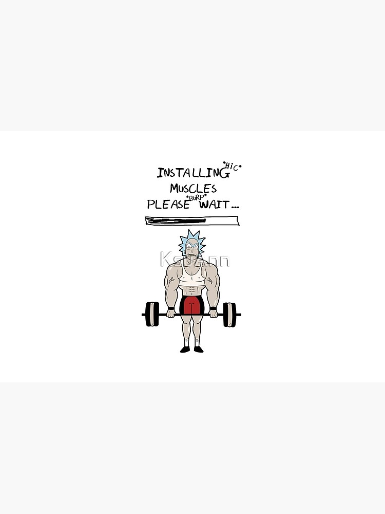 Rick and Morty. Installing muscles. by KsuAnn