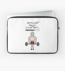 Rick and Morty. Installing muscles. Laptop Sleeve