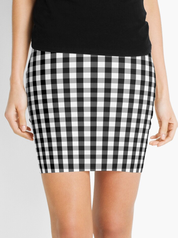ed0d294a4 Small Black White Gingham Checked Square Pattern