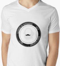 Tasse à café hipster communiste Men's V-Neck T-Shirt
