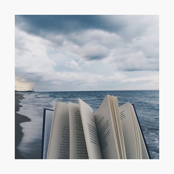 Books by the Ocean Photographic Print