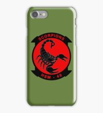 Scorpion - Helicopter Maritime Strike Squadron 49 iPhone Case/Skin