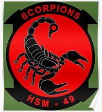 Scorpion - Helicopter Maritime Strike Squadron 49 Poster