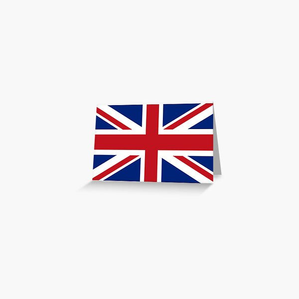 Union Jack. Union Flag. Flag of the United Kingdom, Britain, British flag. Pure and simple. Landscape format. Greeting Card