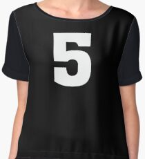 Sports Team Jersey T Shirt - Number Front & Back Player Chiffon Top