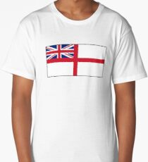 White Ensign, Flag, Royal Navy, Ships, St George's Cross, St George's Ensign, Navy, on WHITE Long T-Shirt