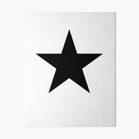 BLACK Star, Dark Star, Black Hole, Stellar, Achievement, Cool. Art Board Print