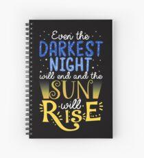 Cuaderno de espiral Y el sol se levantará ...