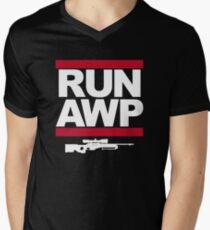 RUN AWP Men's V-Neck T-Shirt