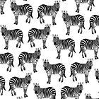 Zebramuster, Kinder Kunst, lustige Kunst, Tier, Kinderzimmer, moderne Kunst, Wandkunst, Print, minimalistisch, modern, Humor, schwarz und weiß von juliaemelian