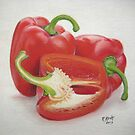 """Two and a Half Peppers""  by Rik Kent"