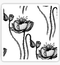 poppy graphic floral spring graphic Sticker