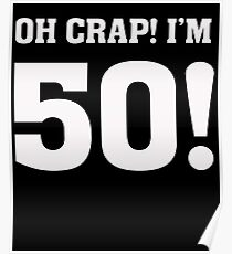 50th Birthday Poster Redbubble
