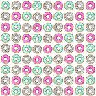 Donut-Muster, rosa Donuts, blaue Donuts, Muster, Kinder Kunst, lustige Kunst, moderne Kunst, Wandkunst, Print, minimalistisch, Modern, Humor von juliaemelian