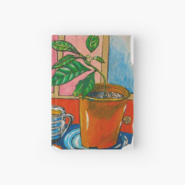 Sage and Avo Make Friends over a Cup of Chamomile Tea Hardcover Journal