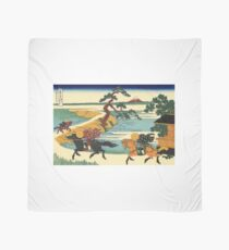 Hokusai, Thirty-six Views of Mount Fuji, no. 13.  Japan, Japanese, Wood block, print Scarf