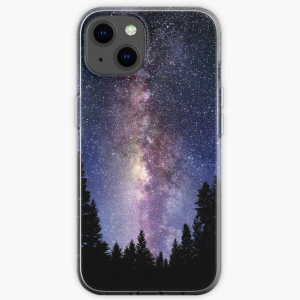 Starry Night Forest - Galaxy Stars iPhone Soft Case