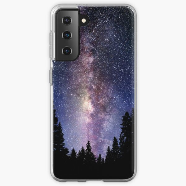 Starry Night Forest - Galaxy Stars Samsung Galaxy Soft Case