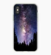 Starry Night Forest - Galaxy Stars iPhone Case
