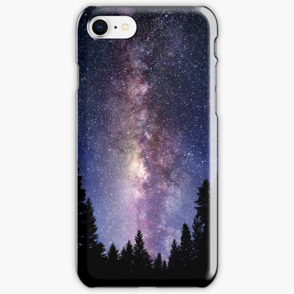 Starry Night Forest - Galaxy Stars iPhone Snap Case