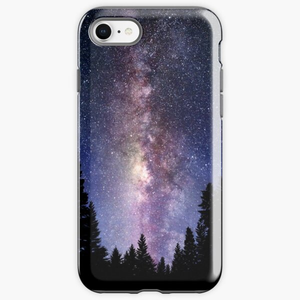 Starry Night Forest - Galaxy Stars iPhone Tough Case