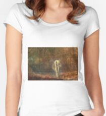 John Atkinson Grimshaw - Dame Autumn Hath A Mournful Face Women's Fitted Scoop T-Shirt