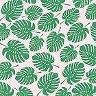 Monstera lässt Muster, tropische Blätter, tropisches Muster, grüne Blätter, Blatt, Muster, Kinderkunst, lustige Kunst, moderne Kunst, Wandkunst, Druck, minimalistisch, modern, Humor von juliaemelian