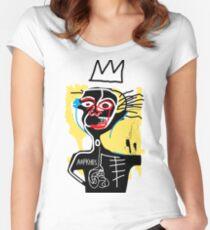 Basquiat boy Women's Fitted Scoop T-Shirt