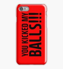 jackson wang you kicked my balls quote iPhone Case/Skin
