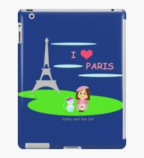 Cathy and the Cat in Paris iPad Case/Skin