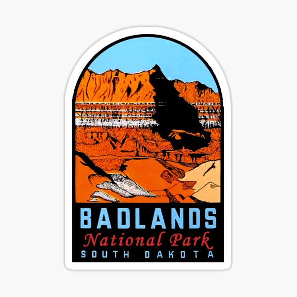 Badlands National Park Vintage Travel Decal Sticker