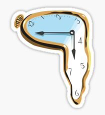 Melting Clock Sticker