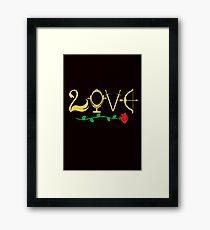 Love Fairytale Lettering Framed Print