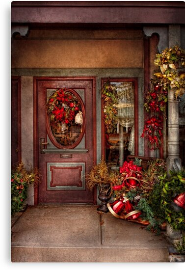 Winter - Store - Metuchen, NJ - Dressed for the holidays by Michael Savad