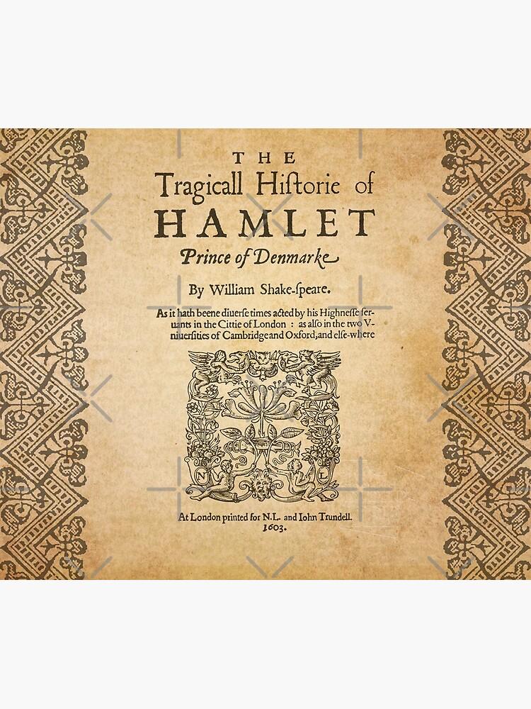 Shakespeare, Hamlet 1603 de bibliotee