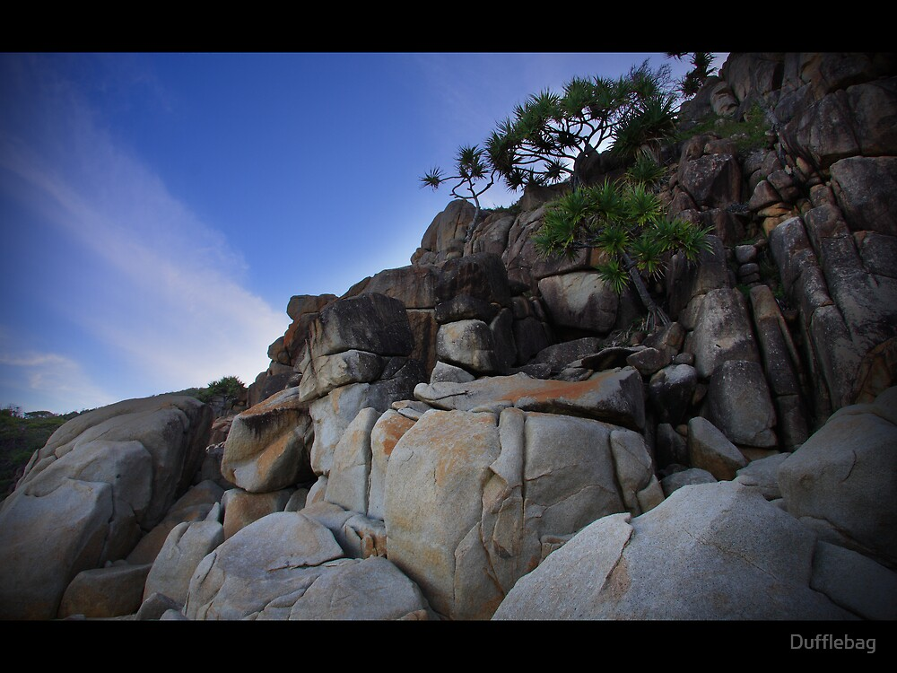 Rocks Blue 1 by Dufflebag