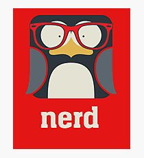 Nerd - Penguin with Geek Glasses - Funny Humor  Photographic Print