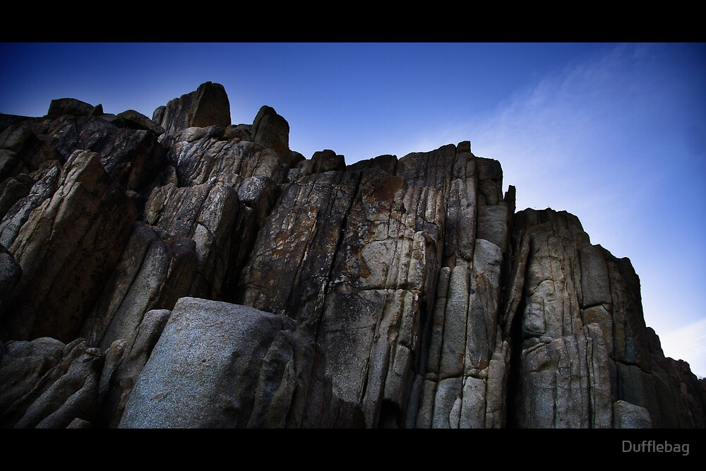 Rocks Blue 2 by Dufflebag